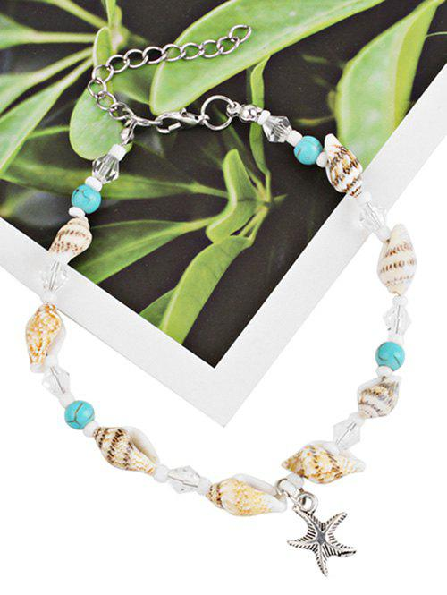 Bohemian Star and Sea Snail Alloy Anklet Chain