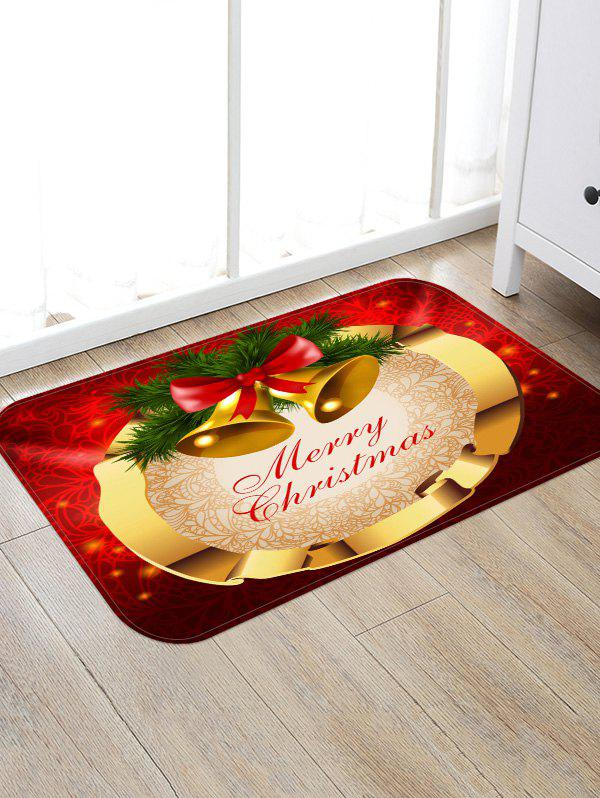 Merry Christmas Bells Pattern Anti-skid Area Rug - multicolor W24 X L35.5 INCH