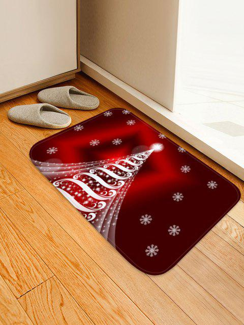 Christmas Tree Snowflake Pattern Anti-skid Area Rug - RED WINE W16 X L24 INCH