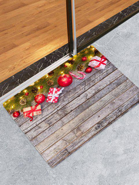 Christmas Wood Board Gifts Pattern Anti-skid Area Rug - multicolor W16 X L24 INCH