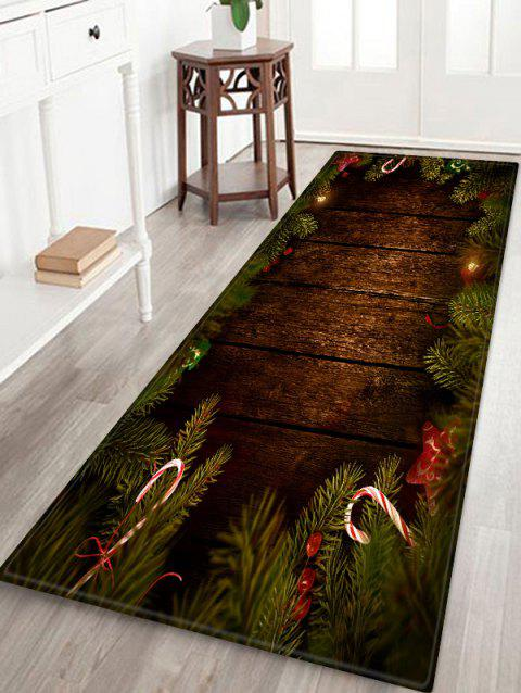 Christmas Tree Wood Pattern Anti-skid Area Rug - multicolor W16 X L47 INCH
