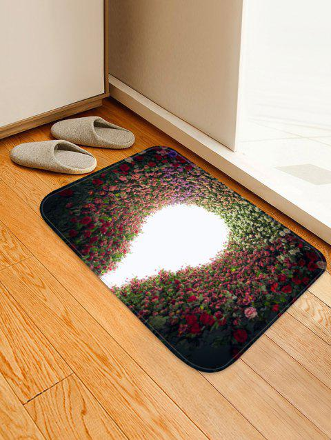 Flowers Hole Pattern Anti-skid Area Rug - multicolor W16 X L24 INCH