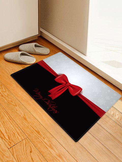 Christmas Bowknot Pattern Anti-skid Area Rug - multicolor W16 X L24 INCH