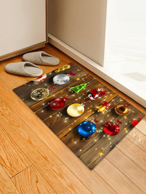Christmas Decorations Wood Pattern Anti-skid Area Rug - multicolor W20 X L31.5 INCH