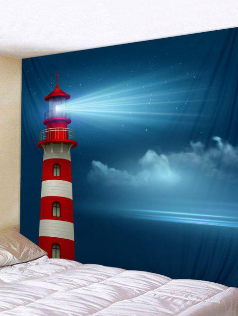 Lighthouse Print Tapestry Wall Hanging Decoration - multicolor W59 X L51 INCH