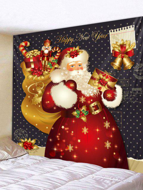 Christmas Santa Claus Gifts Print Tapestry Wall Hanging Decoration - multicolor W59 X L51 INCH