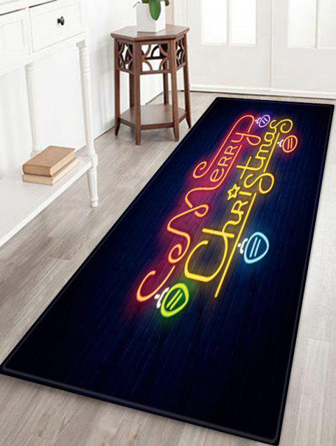 Merry Christmas Light Pattern Anti-skid Area Rug - multicolor W24 X L71 INCH