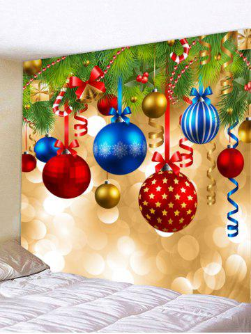 8f52eeb0452 Christmas Ball Print Tapestry Wall Hanging Decoration