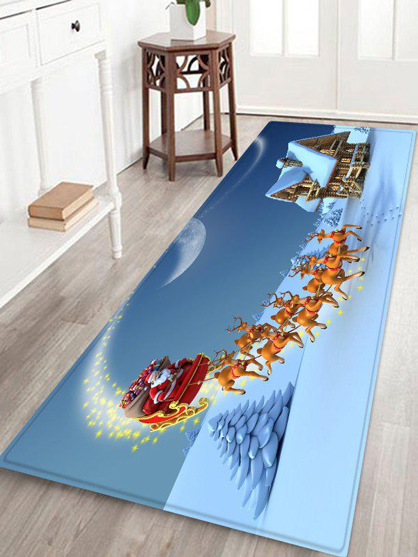Christmas Santa Sleigh Pattern Anti-skid Area Rug - multicolor W24 X L71 INCH
