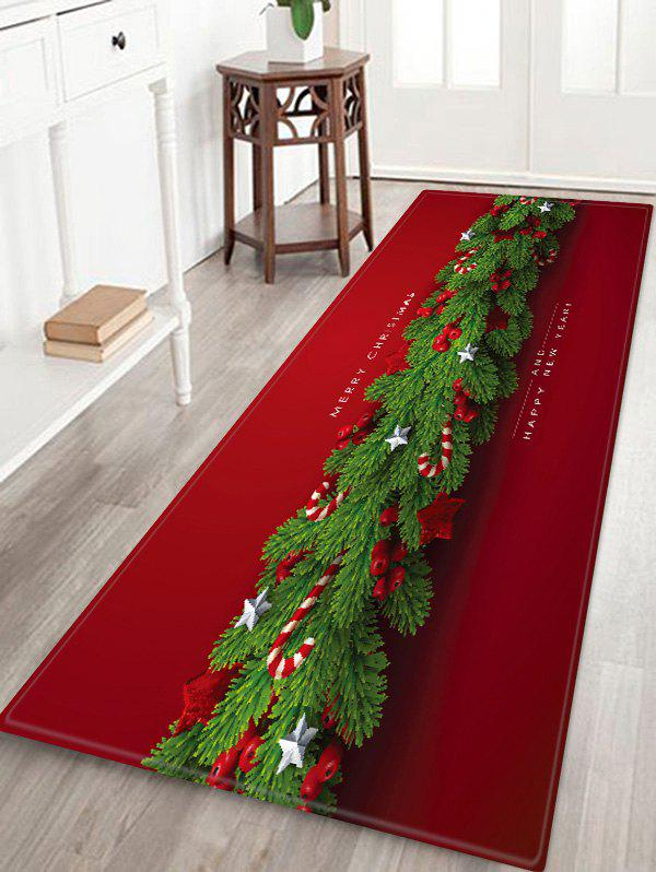 Christmas Star Pattern Water Absorption Floor Rug - multicolor W24 X L71 INCH