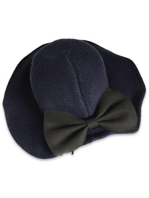 2019 Vintage Large Bowknot Solid Color Bucket Hat In CADETBLUE ... b5743384ebcc