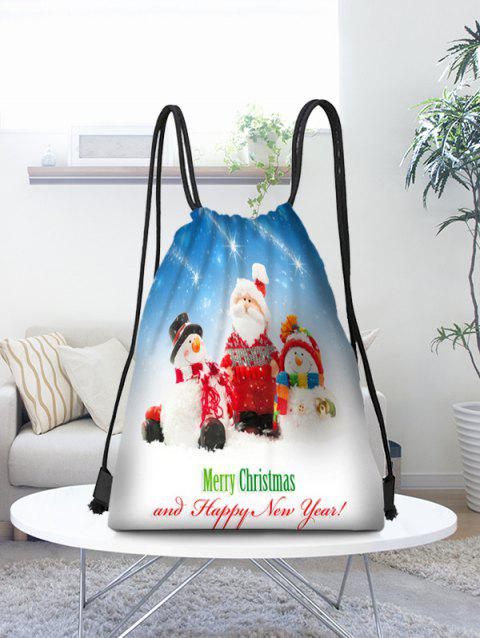 Christmas Family Printed Candy Storage Drawstring Bag - multicolor