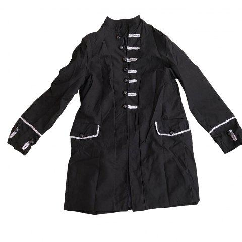 Men Vintage Jacket Outfit Jacquard Steampunk Gothic Cosplay Costume Overcoat