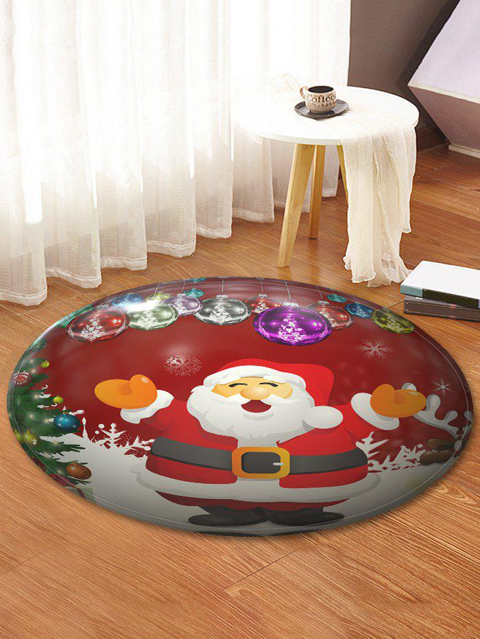 Christmas Santa Claus Pattern Anti-skid Round Area Rug - multicolor 60CM (ROUND)