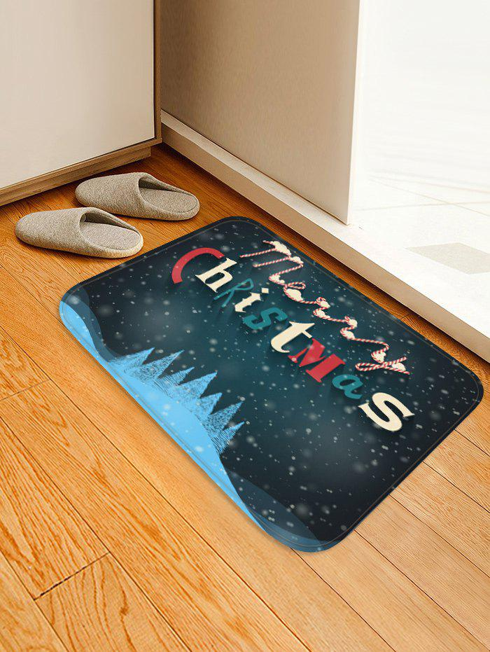 Merry Christmas Pattern Anti-skid Water Absorption Area Rug - multicolor W20 X L31.5 INCH