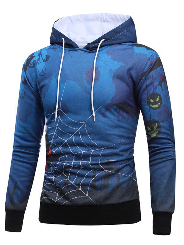 Halloween Spider Web Butterfly Hoodie