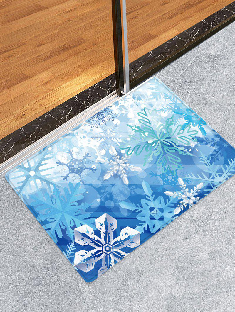 Tapis Anti-dérapant Absorbant d'Eau Motif de Flocon de Neige - multicolor W16 X L24 INCH