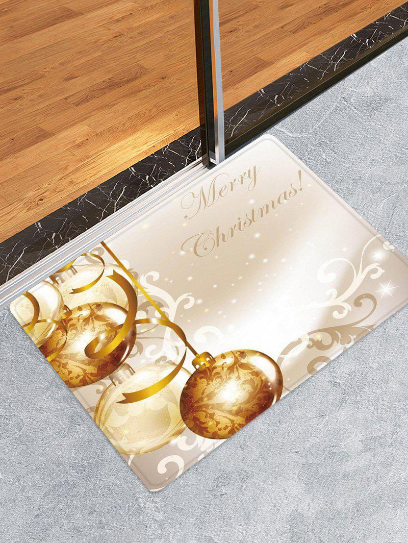 Christmas Balls Pattern Anti-skid Water Absorption Area Rug - multicolor W24 X L35.5 INCH