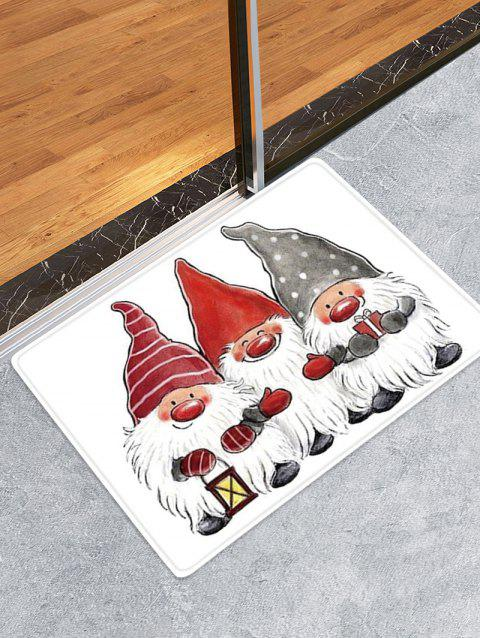 Christmas Santa Claus Pattern Water Absorption Area Rug - multicolor W24 X L35.5 INCH