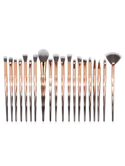 20 Pcs Omber Fiber Makeup Brush Collections - multicolor A