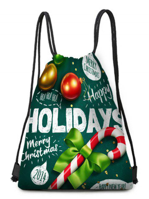 Christmas Holidays Print Drawstring Candy Bag - multicolor