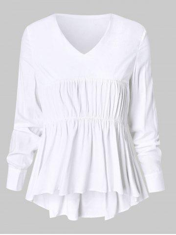 06fd91bee2f 2019 White High Low Blouse Online Store. Best White High Low Blouse ...