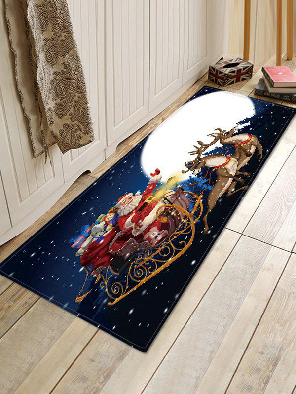 Christmas Moon Night Pattern Water Absorption Area Rug - multicolor W16 X L47 INCH