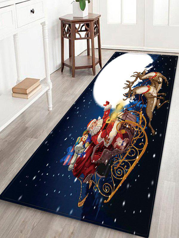 Christmas Moon Night Pattern Water Absorption Area Rug - multicolor W24 X L71 INCH