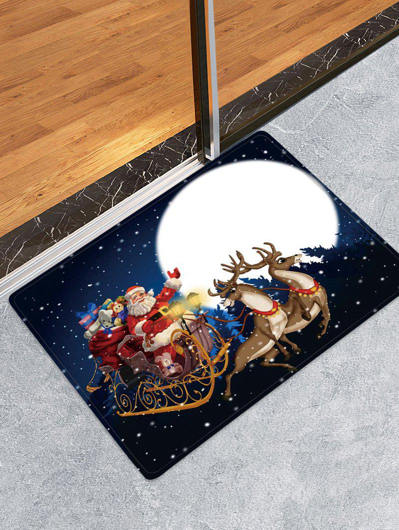 Christmas Moon Night Pattern Water Absorption Area Rug - multicolor W16 X L24 INCH