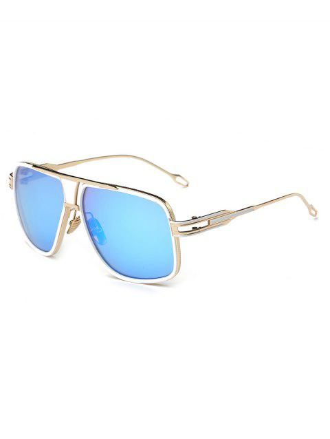 Anti Fatigue Metal Full Frame Crossbar Sunglasses - DAY SKY BLUE