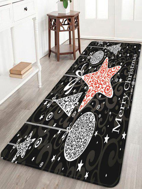 Merry Christmas Pattern Water Absorption Anti-skid Area Rug - multicolor W24 X L71 INCH