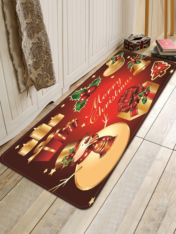 Christmas Props Pattern Anti-skid Water Absorption Area Rug - multicolor W16 X L47 INCH