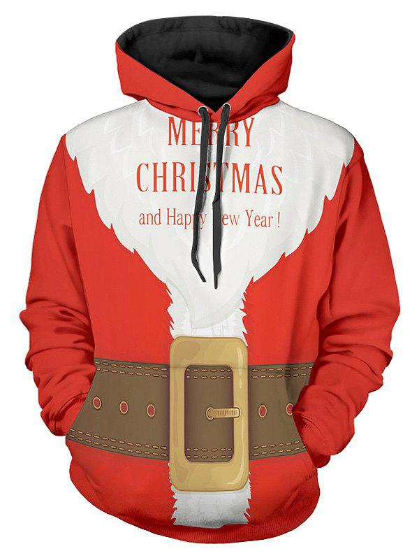 Santa Suit Christmas Pullover Hoodie - multicolor 2XL