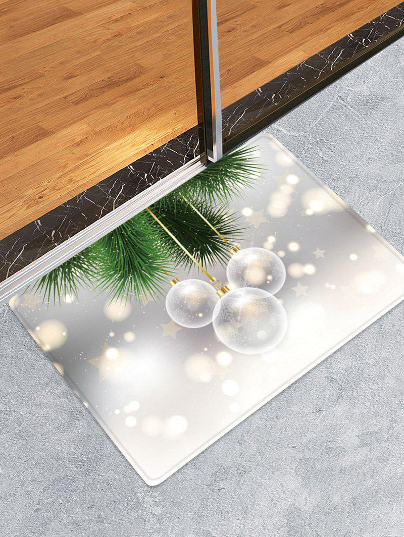 Christmas Balls Pattern Anti-skid Water Absorption Floor Rug - multicolor W16 X L24 INCH