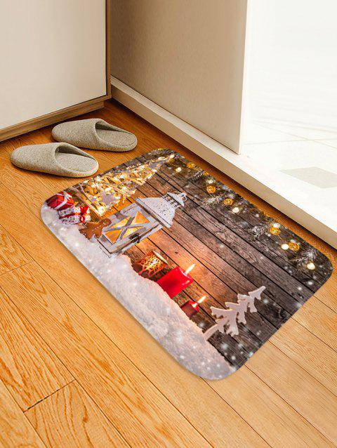Christmas Lantern Gifts Pattern Anti-skid Water Absorption Area Rug - multicolor W16 X L24 INCH
