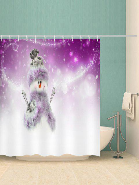 Christmas Carrot Nose Snowman Bathroom Shower Curtain