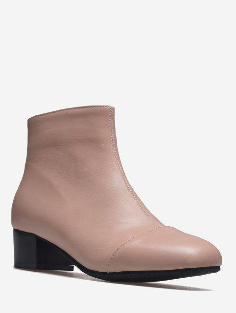 Plus Size Square Toe Ankle Boots - PINK EU 43