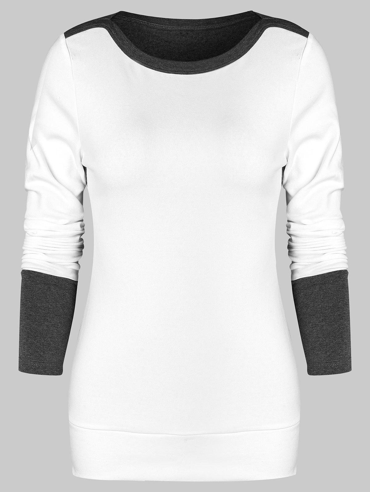 Color Block Slim Sweatshirt