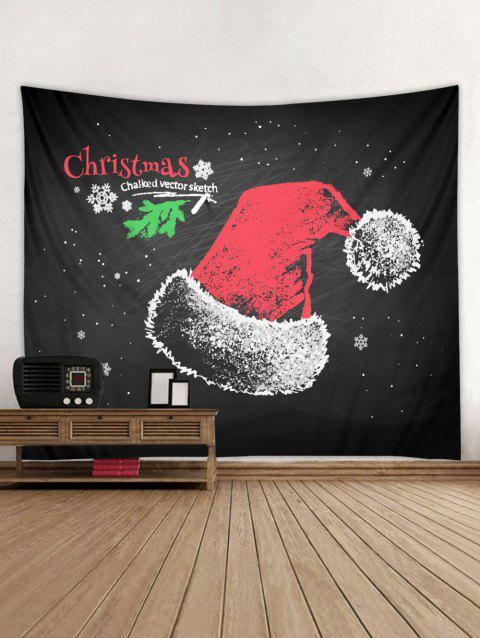 Christmas Hat Tapestry Wall Decoration - multicolor W91 X L71 INCH