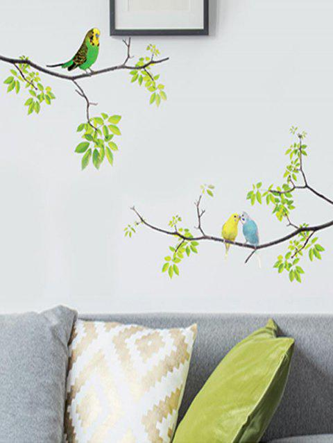 Birds On The Branches Print Wall Art Stickers - multicolor 70*20CM