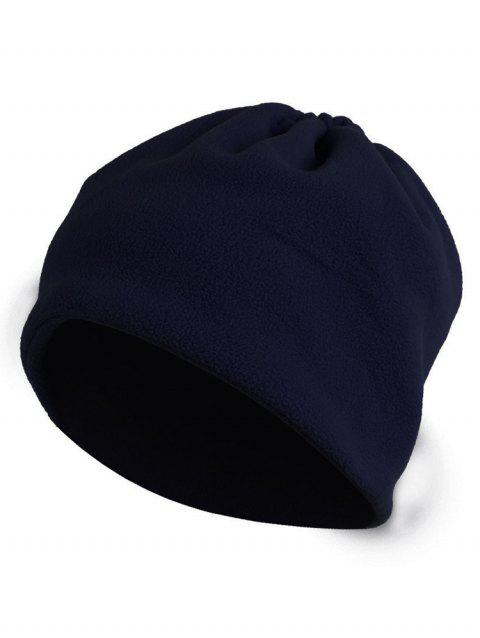 Solid Color Multi-use Beanie and Scarf - MIDNIGHT BLUE