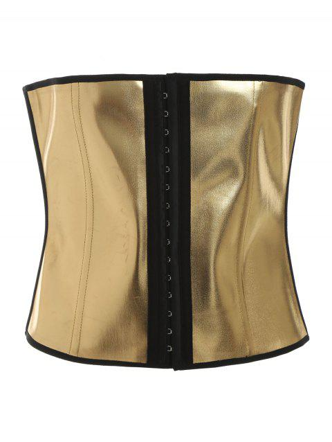 Buckle Up Metallic Corset - GOLD XL