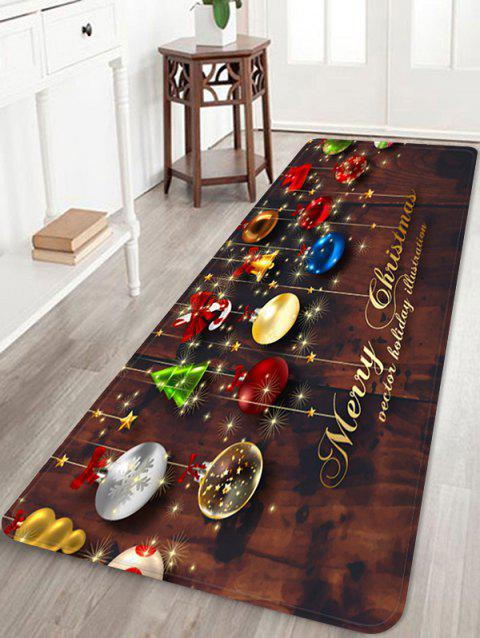 Christmas Decorations Pattern Anti-skid Water Absorption Area Rug - multicolor W16 X L47 INCH