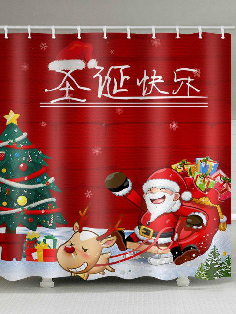Merry Christmas In Chinese.Chinese Merry Christmas Pattern Waterproof Shower Curtain