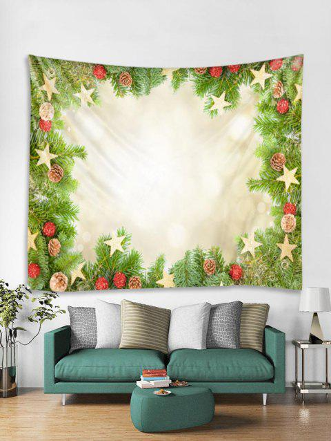Christmas Pine Cones Pattern Tapestry Wall Hanging Decoration - multicolor W91 X L71 INCH
