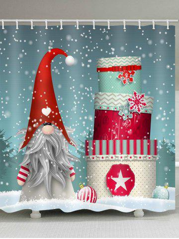 Father Christmas Gift Pattern Waterproof Shower Curtain