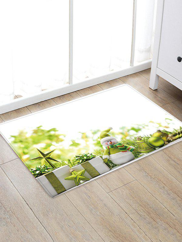 Christmas Gifts Balls Pattern Anti-skid Water Absorption Area Rug - multicolor W24 X L35.5 INCH