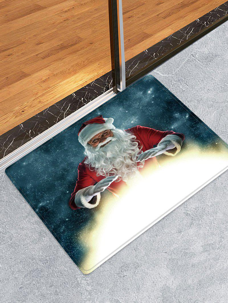 Christmas Santa Claus Pattern Water Absorption Anti-skid Area Rug фото