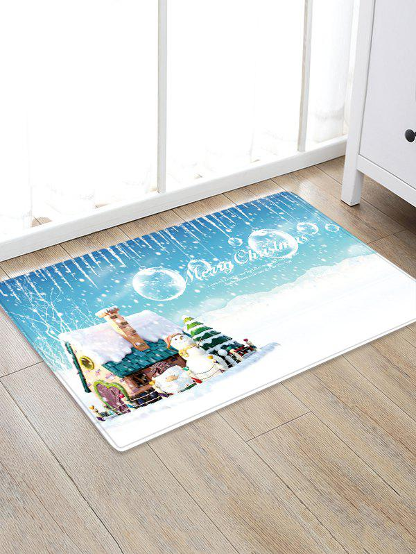 Christmas House Field Pattern Anti-skid Water Absorption Area Rug - multicolor W24 X L35.5 INCH