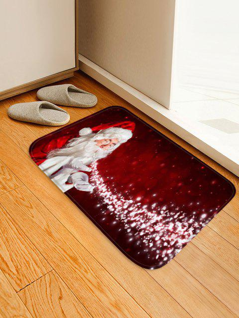Magic Father Christmas Printed Floor Mat - CHERRY RED W16 X L24 INCH